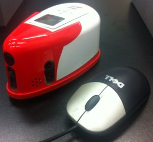 Final iRat  next to computer mouse for scale